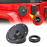 RT-TCZ Locking Gas Cap Cover Fuel Filler Tank Door Accessories for 2007-2017 Jeep Wrangler JK & Unlimited Sport Rubicon Sahara