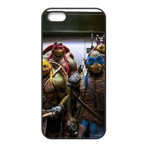 901 Teenage Mutant Ninja Turtles L coque iPhone 5 5S cellulaire cas coque de téléphone cas téléphone cellulaire noir couvercle EOKXLLNCD21197