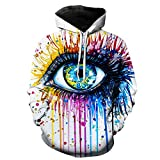 Rainbow Eye by Pixie,Cold Art Autumn Sweatshirts Men,Hoodies 3D Printing Pullover Funny Tracksuits Streetwear Hoody