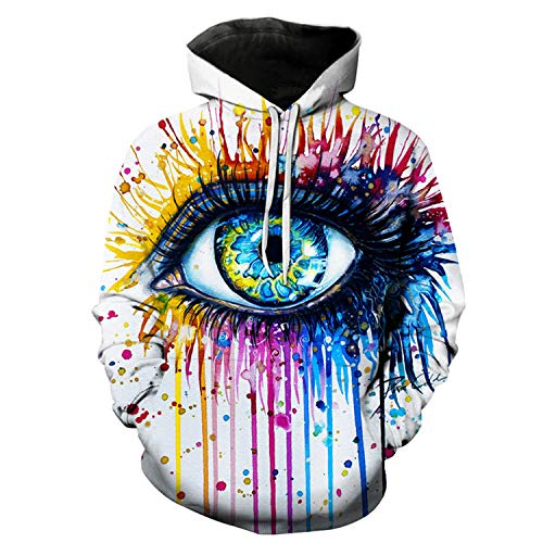 Rainbow Eye by Pixie,Cold Art Autumn Sweatshirts Men,Hoodies 3D Printing Pullover Funny Tracksuits Streetwear Hoody by Francis4 (Image #2)