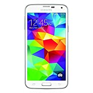 Samsung Galaxy S5 G900V 16GB Verizon + GSM Unlocked Smartphone w/ 16MP Camera, White w/ 1 YEAR EXTENDED CPS LIMITED WARRANTY ($34.99 Value) (Certified Refurbished)