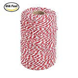 Office Products : 656 Feet Red and White Twine,Cotton Baker's Twine Cotton Cord Crafts Gift Twine String for Christmas Holiday