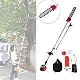 BEAMNOVA Pole Saws for Tree Trimming Chainsaw Hedge Trimmer Multifunctional 43CC Gas Powered Brush Cutter 7.6FT to 11.35FT Adjustable Length