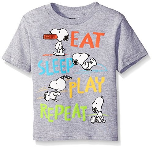 Peanuts Little Boys' Toddler Eat Sleep Play Repeat T-Shirt