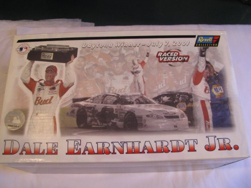 Raced Version 2001 Dale Earnhardt Jr #8 Major League Baseball Budweiser All Star Game Special Paint Scheme (Won Daytona Summer Race in 2001 in same Year his father died at Daytona) 1/24 Scale Diecast Hood Opens, Trunk Opens HOTO Revell Collection Limited Edition With Certificate of Authenticity COA ()