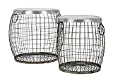 IMAX 14393-2 Balaz Wire Tables, (Set of Two) For Sale