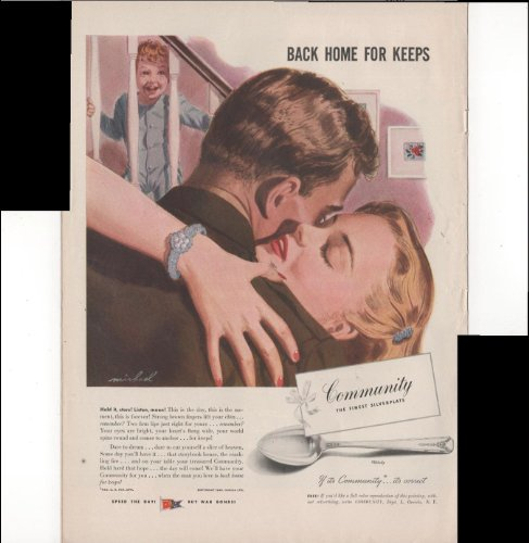 Community The Finest Silverplate Back Home For Keeps 1945 Antique Advertisement