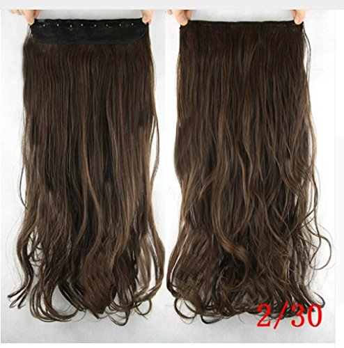 [dolly2u 60cm Synthetic Clip In Hair Extension Heat Resistant Hairpiece Natural Curly Wavy Hair] (Baby Fish Costume Diy)