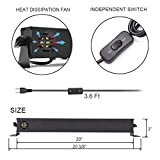 HIOTECH UV LED Bar Black Light with 3Wx9 LEDs Blacklight Effect Supplies for Parties Birthday Wedding DJ Stage Lighting in Dark (9 LEDs)