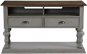 Progressive Furniture Colonnades Sofa/Console Table, Weathered Gray/Oak