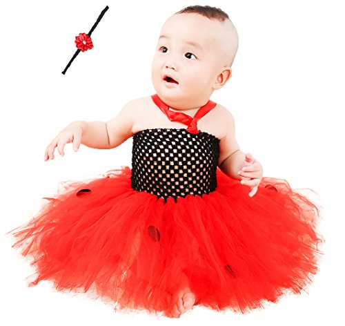 Ladybug Tutu Set (Tutu Dreams Bright Red Birthday Tutu Dresses for Baby Girls (free size, ladybug))