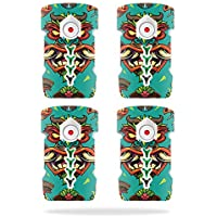 Skin For DJI Inspire 1 Drone Battery (4 pack) – Crazy Tikis | MightySkins Protective, Durable, and Unique Vinyl Decal wrap cover | Easy To Apply, Remove, and Change Styles | Made in the USA