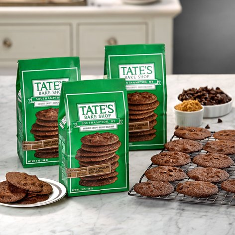 Tates Cookie Doubl Choc Chip (Pack of 3) (Choc Chip Crisp)