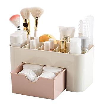 Make Up Organizer Cosmetic Kosmetik Schminke Aufbewahrung Schublade Box  Rosa 22 * 10 * 10.3 Cm