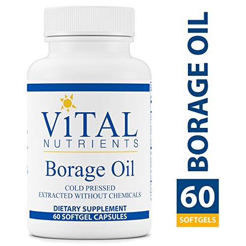 Vital Nutrients - Borage Oil - Cold Pressed Extracted Without Chemicals - Provides High Dose of GLA, an Essential Omega 6 Fatty Acid - 60 Softgel Capsules