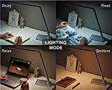 Phive Dimmable LED Desk Lamp with Fast Charging USB Port, Touch Control, 8-Level Dimmer / 4 Lighting Modes, Aluminum Body, Eye-Care LED, Table Lamp for Bedroom/Reading/Study