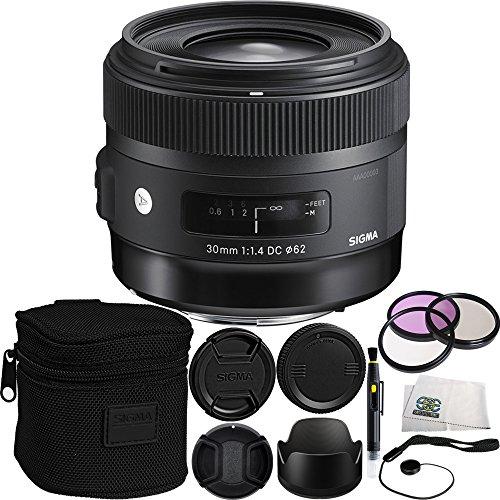 Sigma 30mm f/1.4 DC HSM Art Lens for Nikon Bundle Includes M