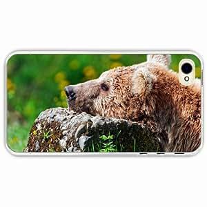 iPhone 4 4S Black Hardshell Case sadness grass Transparent Desin Images Protector Back Cover