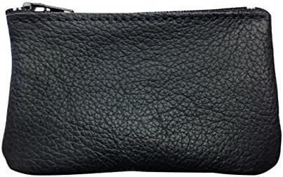 Zippered Coin Pouch For Men/Woman made with Genuine Leather, Coin Purse, Change Holder By Nabob
