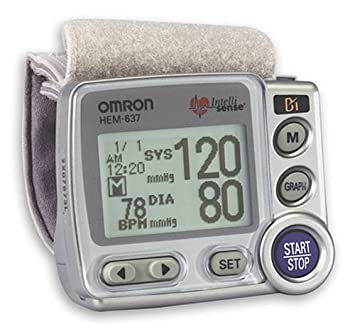 amazon com omron hem 637 wrist blood pressure monitor with advanced rh amazon com 637 Heavy Equipment Smith and Wesson 637 Review