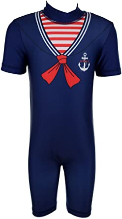 Boys Sailor Surf Suit Swimsuit Beach Swimming Pool Toddler