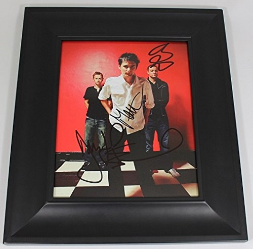 Muse Drones Matt Bellamy Dominic Howard Chris Wolstenholme Band Group Signed Autographed 8x10 Glossy Photo Gallery Framed Loa
