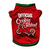 Hot Sale! Clearance! Todaies Christmas Dog Clothing Cotton T shirt Puppy Costume (XS, Red)
