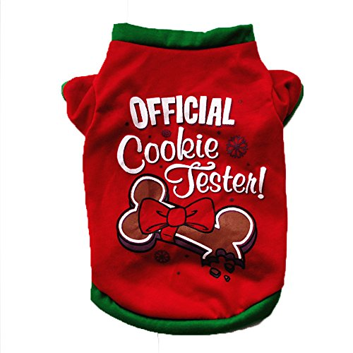 - kaifongfu Dog Clothing Christmas Dog Clothing Cotton T Shirt Puppy Costume (S, Red)