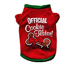 Hot Sale! Clearance! Todaies Christmas Dog Clothing Cotton T shirt Puppy Costume (M, Red)