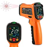 ES6530B Non-Contact Digital Laser IR Infrared Thermometer Temperature Gun For Kitchen Cooking Automotive, -58℉ - 1022℉ (-50℃ to 500℃) With Backlight LCD Display and Perfect Reading Accuracy