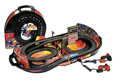 Life-like Champions Speedway Fold N Go Kid Powered Slot Car Race Set by Life Like