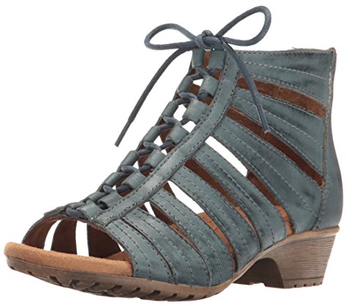 Cobb Hill Rockport Women's Gabby Gladiator Sandal, Blue, 8 M US by Cobb Hill