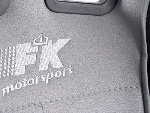 FK Automotive FKRSE011543 Chaise de Bureau Sportive en Cuir synthétique (Noir/Gris)