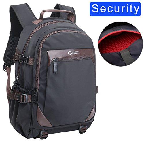 Backpacks for School, CrossLandy College Backpack for Men Women Fits 15.6 Inch Laptop Carry on Travel Backpacks Black