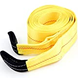 Heavy Duty Recovery Tow Strap 4'' X 30' Foot' 20,000 LB Pound Break Strength
