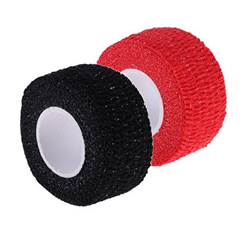 Prettyia Set 2 Elastic Finger Protective Grip Tape for Sports Golf Clubs/Hockey Sticks