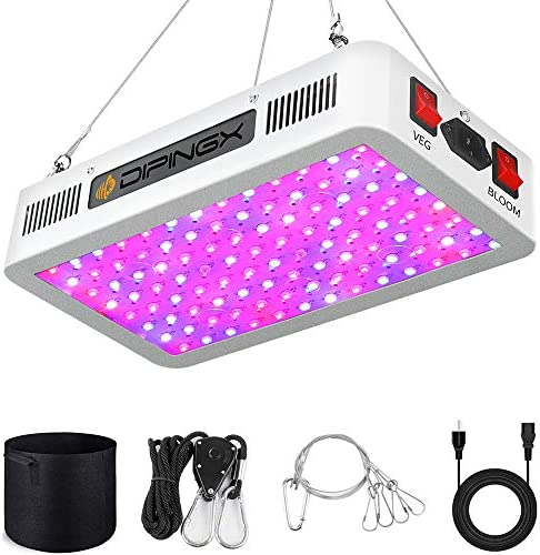 DIPINGX Upgraded Full Spectrum Led Grow Light 1000W Veg Bloom Double Switch Led Growing Lamp for Greenhouse Indoor Plant Veg and Flower Dual-Chip 10W LEDs 100Pcs 1000W