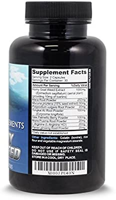 Horny Goat Weed 1000mg With Maca Root Extract by Advanta Supplements 90 capsules ($0.18/Count)