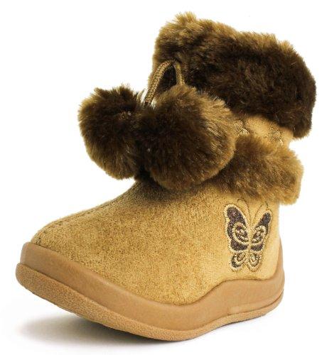 Girls Butterfly Boots (Toddler/Little Kid) Camel 10 M US Little Kid