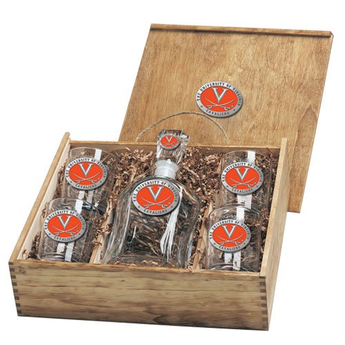 Virginia Cavaliers Capitol Decanter Box Set by Heritage Pewter