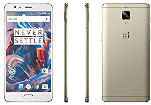 "OnePlus 3T A3010 64GB Gold, 5.5"", 6GB RAM, Dual Sim, GSM Unlocked International Model, No Warranty"