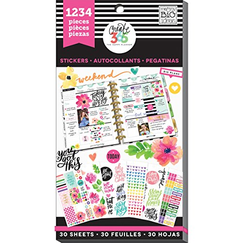 Me & My Big Ideas PPSV-05 Create 365 Happy Planner Sticker Value Pack Today Is The Day - 1234 per Pack by Me & My Big Ideas