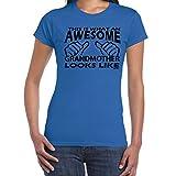 Womens Funny Sayings Slogans T Shirts-AWESOME GRANDMOTHER tshirt