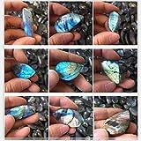 Autumn Water healing crystals Natural Labradorite Crystal 1.4-1.8 inch Pendant Decor Stone