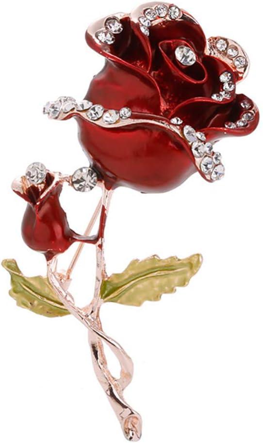 Stainless Steel 2 Color Black Enameled Rose Flower Medallion Ring