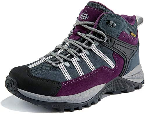 Wantdo Women's Waterproof Hiking Boots Winter Snow Boots Non Slip Work Shoes Winter Walking Boots