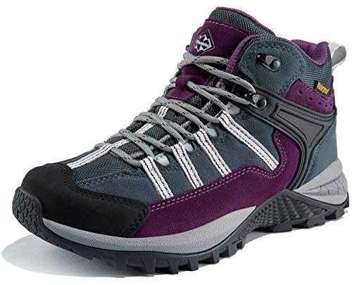 Wantdo Women's Waterproof Hiking Boots Winter Snow Boots Non Slip Work Shoes Winter Safety Footwear