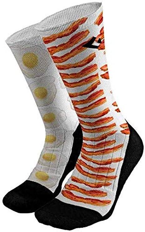 Food Socks Father/'s Day Socks Brunch Socks Breakfast Socks Gift for Him Socks Groom Socks Wedding Socks Bacon /& Eggs Socks