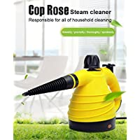 Hot Gift for Cop Rose Handheld Multi-Purpose Pressurized Steam Cleaner with 9 Accessories (yellow)