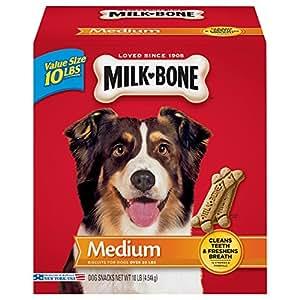 Milk-Bone Original Dog Treats for Medium Dogs, 10-Pound